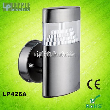 CE and ROHS approval modern popular stainless steel outdoor LED wall light