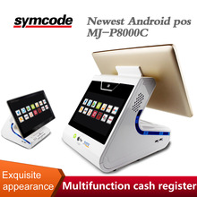 Symcode MJ-P8000C Android / Wins Two Touch Screen Pos System Manufacturer Pos Machine