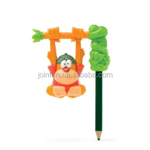 oem plastic pencil toppers for child,custom make soft rubber plastic pencil topper toys for kids