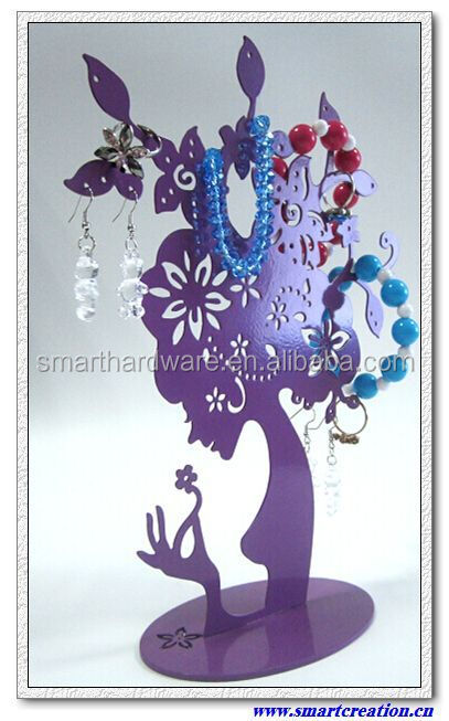 Metal jewelry holder Decorative hanging jewelry holder