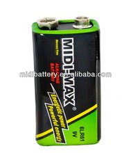 High quality 9V 6LR61 Alkaline battery