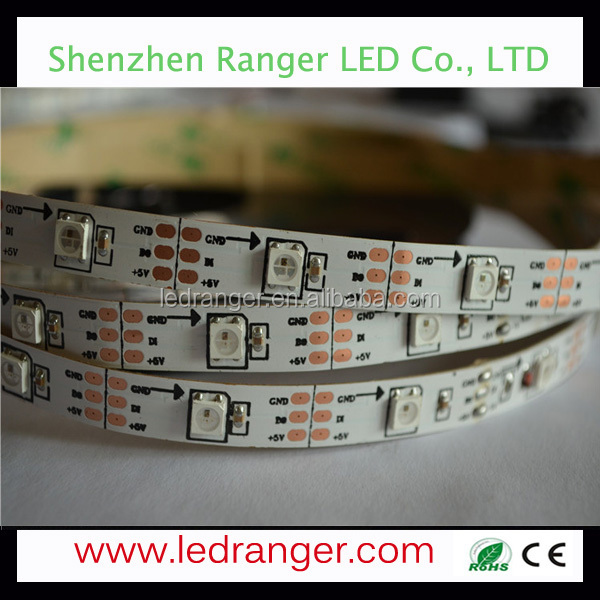 variable color led strips,IC WS2812 30LEDs/ 30Pixels LED Light Strip Lights RGB chase,