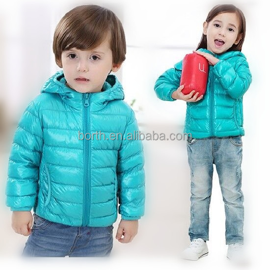 New Fashion winter Children boys and Girls Warm Down Garment kids varsity jackets in china