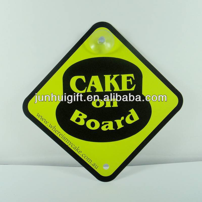 Available promotional custom plastic sign board