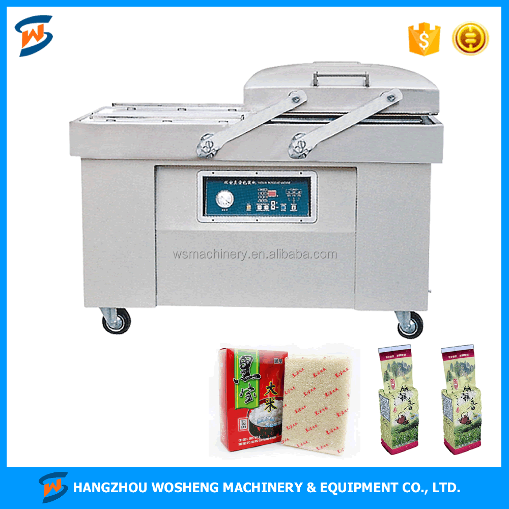 WS DZ600-2SB Double Chamber rice vacuum packaging machine for food commercial