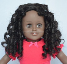 customized black doll wigs/high quality doll wig for american girl/cheap doll wig