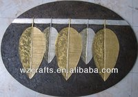 European Popular Oval Canvas Painting 3D Oil Painting of Leaves