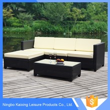 SGS Tested PE rattan new model sofa bed and sofa set