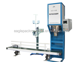 coffee bean bagging machine with conveyor and heat sealing machine