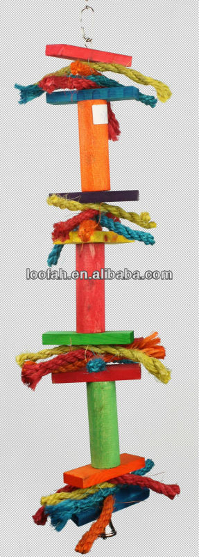 wooden/sisal bird toy