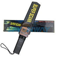 Cheap Hand Held Metal Detector,Low Power Assumption Alarming Super Scanner Bomb Alarm System with Sound/LED/Vibration