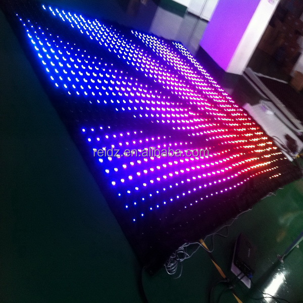 energy saving SD card auto-run control led curtain display for rental