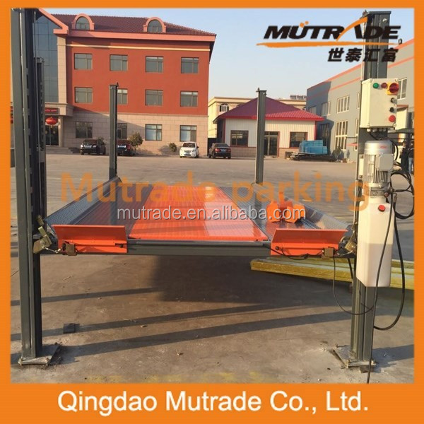 3600kg Electric Control Four Post Hydraulic Car Lift Parking System with CE