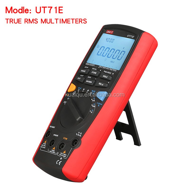Intelligent LCD True RMS Digital Multimeters UNI-T UT71E AC DC Volt Amp Ohm Modern Auto Range Multi Testers with USB Interface