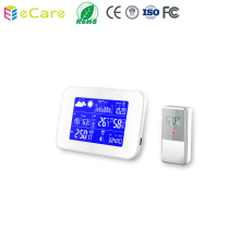IC 81-4 433MHZ Color Wireless Weather Station Thermometer and Humidity with Clock and Calendar function