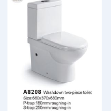 Wholesale best price P-Trap Dual Flush 3/6L Two piece wc toilet tube