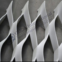 aluminum metal ceiling sheet / powder coated aluminum expanded metal mesh (ISO9001:2008/BV Certificate)