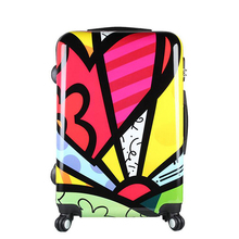 Factory wholesale abs polyester luggage with A Discount