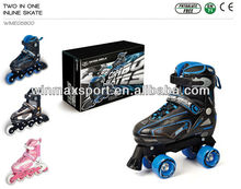 stronger full aluminum chassis two in one inline roller skate