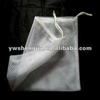 drawstring nylon mesh laundry bag