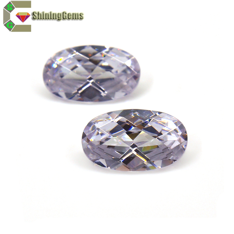 Factory Price 1 Carat Checkerboard Cut Swiss Cubic Zirconia