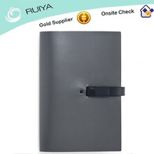 Manufacturer/ High Quality Office Leather Cover Notebook with Plug-in Button
