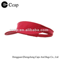 2015 Manufacture Terry cloth visors