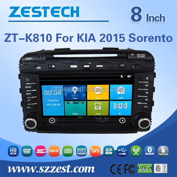8'' screen size Windows CE 6.0 system in-dash full hd media player for Kia Sorento 2014 car multimedia navigation system with cd