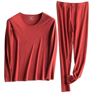 Men Thermal Underwear Crewneck / V-Neck Long Johns Set