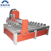 multi heads 4 axis wood lathe router cnc for wood stair making