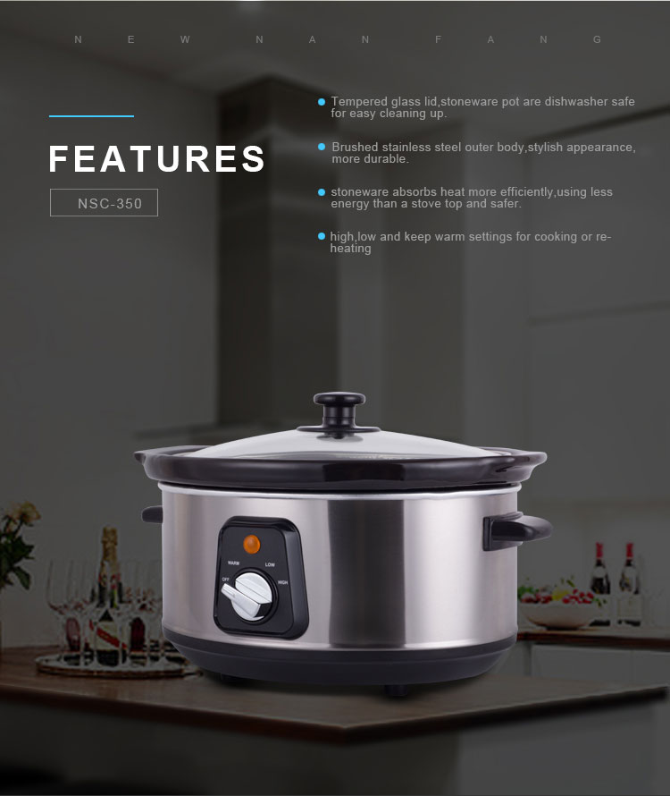 Double cookbook rival little dipper instructions roast recipe euro pro crock pot ceramic 6.5qt Round Stainless Steel Slow Cooker