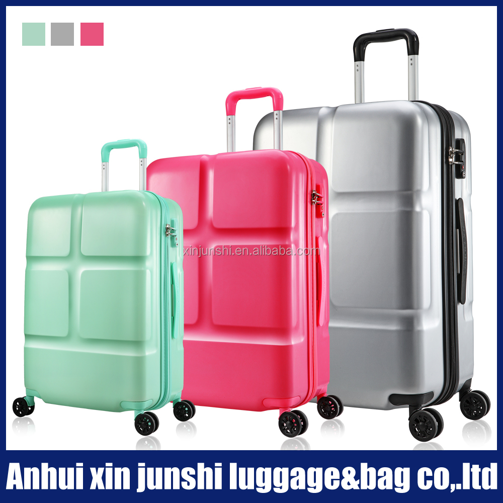 fashionable luggage with spinner wheel/2016 woman luggage suitcase