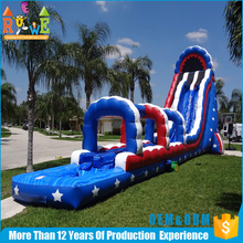 Factory price All American gaint inflatable 32 ft tall 2 lane Water Slide inflatable double lane slip slide water slip slide