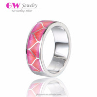 Lovely Pink silver Ring Factory dircet supply silver ring sales promotion Silver Jewelry 2016 graduation Season Gift Jewelry 002