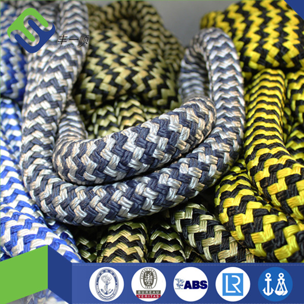 Double Layer Braided Polyamide Nylon Mooring Rope For Ship