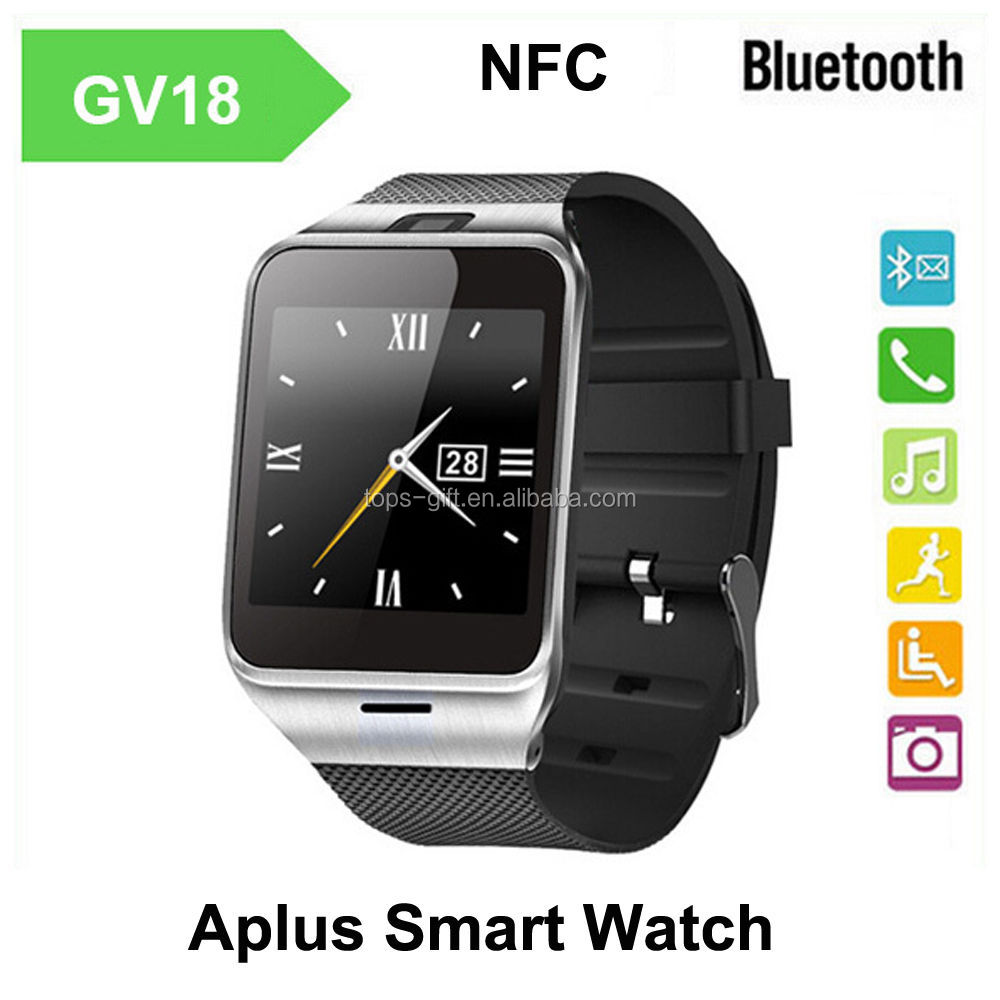 bluetooth gv18 aplus smart watch phone with front facing camera
