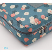Recommend new design circular drawstring cosmetic bag foldable toiletry bag fashion makeup bag