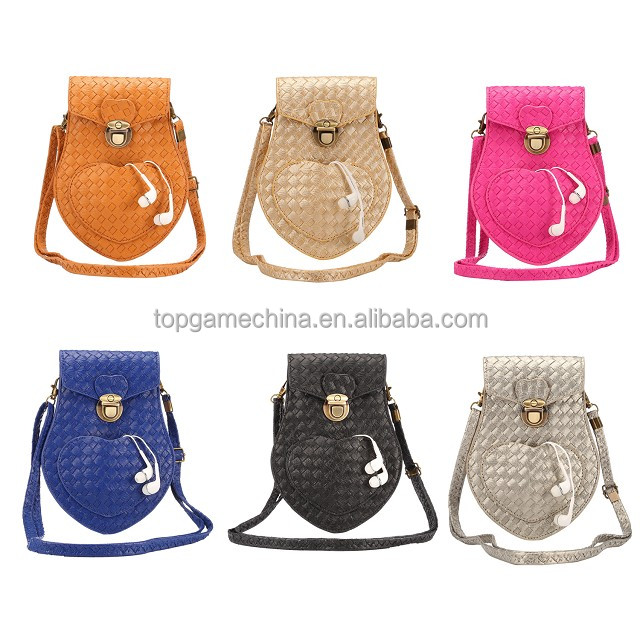 6.3 inch models under general phone case for weave pattern shoulder bag