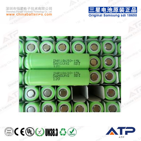 Authorized Dealers Supply Samsung sdi INR18650-15L / 1500mAh 3.6v INR 18650 Li-ion Battery
