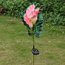 LED Solar Calla Flower Garden Stake Light Color Changing Outdoor Path Yard Lamp