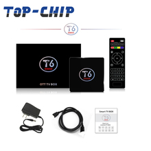 Smart TV box full HD media player firmware update s905x 1GB to 8GB OEM OTT TV box Android 7.1 TV box T6