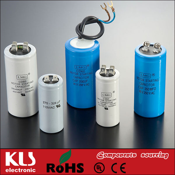 Good quality ac motor fan capacitor of cbb61 6uf UL VDE CE ROHS 259 KLS Brand