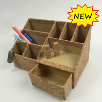 Factory price cardboard pencil holders / cork pen container
