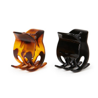 Cheap Wholesale Eco-friendly Black And Brown Goody Hair Accessories Small Mini Plastic Hair Jaw Claw Clip
