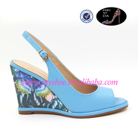 summer fashion design wedge heel lady sandals