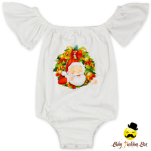 2LLY-178 Yihong Plain White Baby Christmas Rompers With Santa Claus Cap Sleeve Animal Baby Romper Baby Onesi e Organic Cotton
