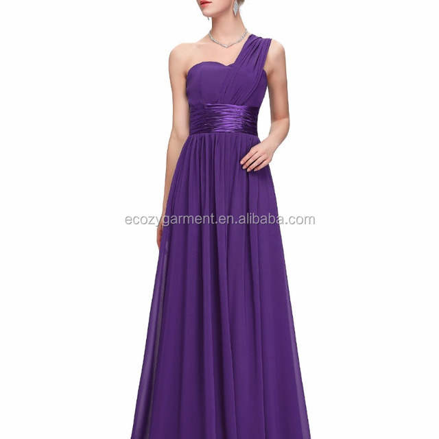 Wholesale custom made long length bridesmaid dress