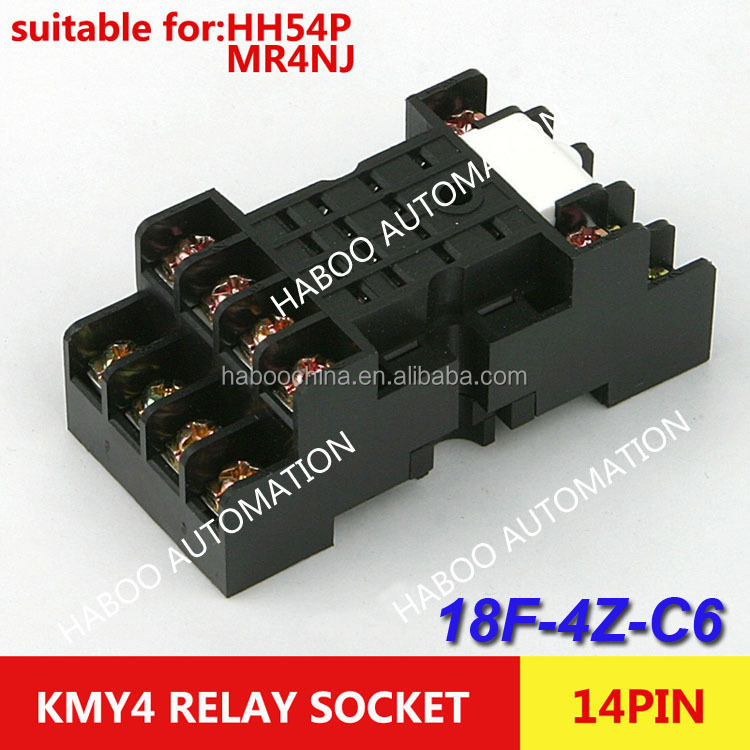 omron Relay socket KMY4 for HH54P MR4NJ relay 14pin electric switch relay socket