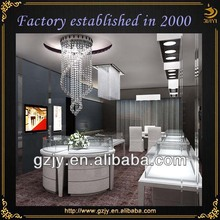 New design contemporary wooden mirrored jewelry display cabinet and glass display counter for jewelry display