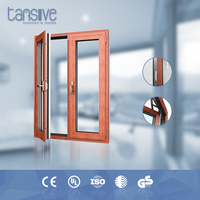 Double glazed aluminium casement construct a door in wood for outside